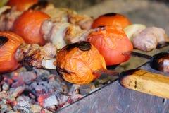 Rundvlees kababs op de grill royalty-vrije stock fotografie