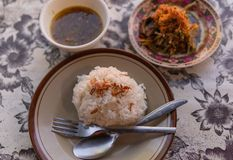 Rundvlees Lawar, de traditionele Balinese Schotel van A royalty-vrije stock foto