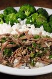 Rundvlees met broccoli Stock Fotografie
