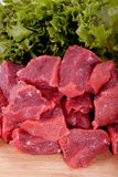 Rundvlees. Vers ruw vlees Stock Afbeelding