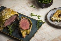 Rundvlees Wellington Royalty-vrije Stock Afbeelding