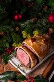 Rundvlees Wellington als Komstverwezenlijking Royalty-vrije Stock Afbeelding