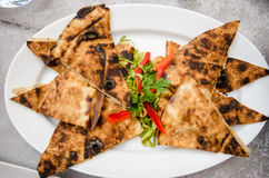 Rundvleesarais bij restaurant Stock Fotografie
