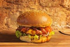 Rundvleeshamburger royalty-vrije stock foto