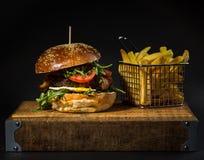 Rundvleeshamburger Royalty-vrije Stock Foto's