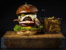 Rundvleeshamburger Royalty-vrije Stock Afbeelding