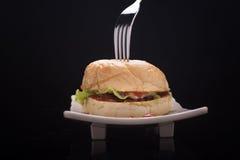 Rundvleeshamburger Royalty-vrije Stock Fotografie