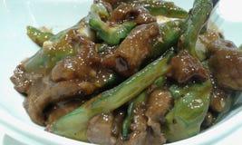 Rundvleeslapje vlees met ampalaya Royalty-vrije Stock Fotografie
