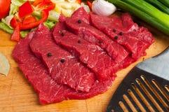 Rundvleeslapjes vlees Royalty-vrije Stock Fotografie