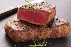 Rundvleeslapjes vlees Stock Afbeeldingen