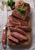 Rundvleeslapjes vlees Royalty-vrije Stock Foto's
