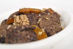 Rundvleesvlees met gedroogd fruit en noot Royalty-vrije Stock Afbeelding