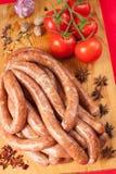 Rundvleesworsten Royalty-vrije Stock Afbeeldingen
