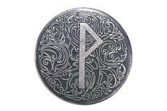 Rune утехи с орнаментом на шкентеле Стоковое фото RF