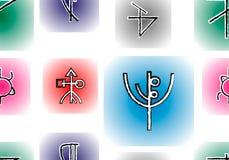 Rune senza cuciture Illustrazione di Stock