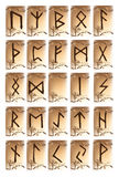 Rune set of characters Royalty Free Stock Image