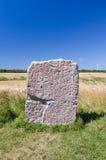 Rune stone on Oland island Royalty Free Stock Photos
