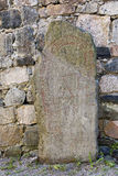 Rune stone in Sigtuna, Sweden. An ancient rune stone in Sigtuna, Sweden Royalty Free Stock Photo