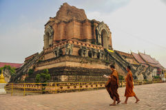 Ruïne van pagode, Chiang Mai Stock Afbeelding