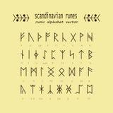 Runealfabet Geheime oude symbolen Royalty-vrije Stock Foto's