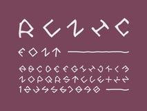 Runen- Guss Elemente für das Scrapbooking lizenzfreie stockbilder