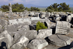 Runen Priene-Tempel des 4. Jahrhunderts vor A M Lizenzfreie Stockbilder