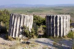 Runen Priene-Tempel des 4. Jahrhunderts vor A M Lizenzfreie Stockfotos