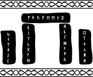 Runen- Stenen Royalty-vrije Stock Afbeeldingen