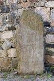 Runenstein in Sigtuna, Schweden Lizenzfreies Stockfoto