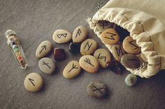 Free Runes And Tarot Cards Royalty Free Stock Image - 62058726