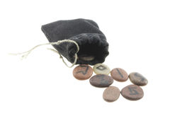 Runes and a bag Royalty Free Stock Photography