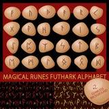 Runes bezszwowy tło Zdjęcie Royalty Free