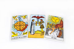 Runes et cartes de tarot Photos stock
