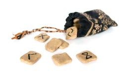 Runes et sac Photographie stock libre de droits
