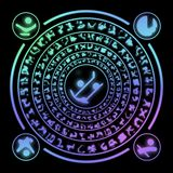 Runes generated hires texture Royalty Free Stock Photo