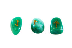 Runes isolated on the white background. Stock Images