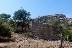 Ruïnes, Lissos, Kreta Griekenland Royalty-vrije Stock Foto