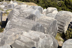 Runes Priene temple of the 4th century ago A.M. The Runes Priene temple of the 4th century ago A.M Royalty Free Stock Photo