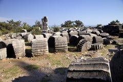 Runes Priene temple of the 4th century ago A.M. Stock Photo