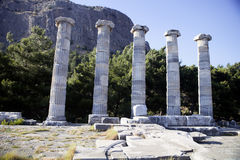 Runes Priene temple of the 4th century ago A.M. The Runes Priene temple of the 4th century ago A.M Royalty Free Stock Images