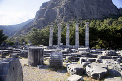 Runes Priene temple of the 4th century ago A.M. The Runes Priene temple of the 4th century ago A.M Stock Images