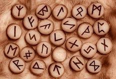 Runes sur la fourrure Image libre de droits