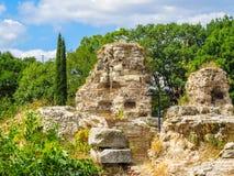 Ruïnes van de oude Roman baden Varna, Bulgarije Royalty-vrije Stock Fotografie