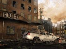 Ruïnes van een hotel Stock Afbeelding