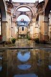 Ruïnes van een kerk in Antigua Stock Foto