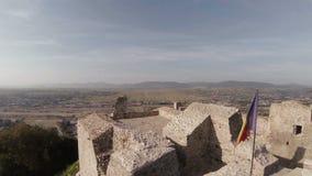 Ruïnes van een oude citadel stock video