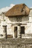Ruïnes van het Grote Paleis en Mayan vesting en de tempel, Tulum Royalty-vrije Stock Fotografie