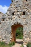 Ruïnes van Montfort kasteel, Israël Stock Foto