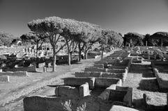Ruïnes van Ostia Antica dichtbij Rome Stock Fotografie