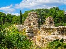 Ruïnes van oud Roman Baths, Varna, Bulgarije Royalty-vrije Stock Afbeelding
